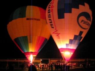 Световое шоу воздушных шаров