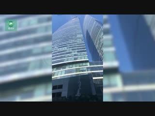 Появилось видео сильного задымления в башне «федерация» в москве