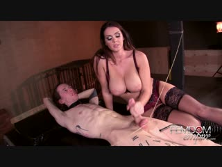 alison tyler edge of orgasm [femdom, handjob, milking, cum eating, stockings, big boobs]