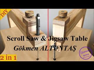 Scroll saw jigsaw table (2 in 1) kıl testere makinası dekupaj tezgahı