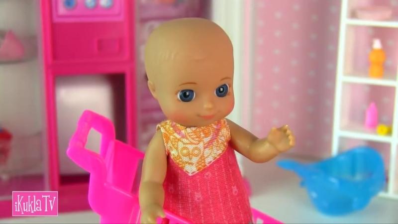 IKuklaTV ❤ Игры в Kуклы со Слоником ❤ В ДЕТСКИЙ МИР ЗА ПОЛЗУНКАМИ Мультик Барби Беременная Мама Куклы для девочек