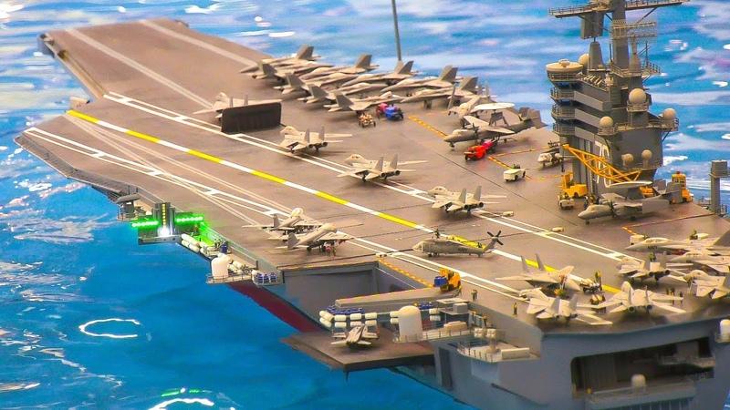 "RC MODEL SHIP SUPERCARRIER NIMITZ-CLASS ""USS RONALD REAGAN"" CVN-76 *AIRCRAFT CARRIER"