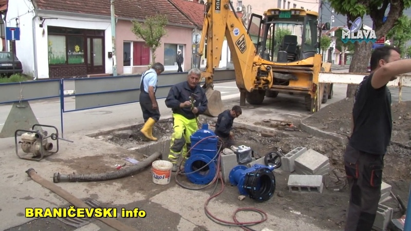 Radovi na rekonstrukciji vodovodne mreze, KJP Izvor (RTV MLAVA 30.05.2019.)