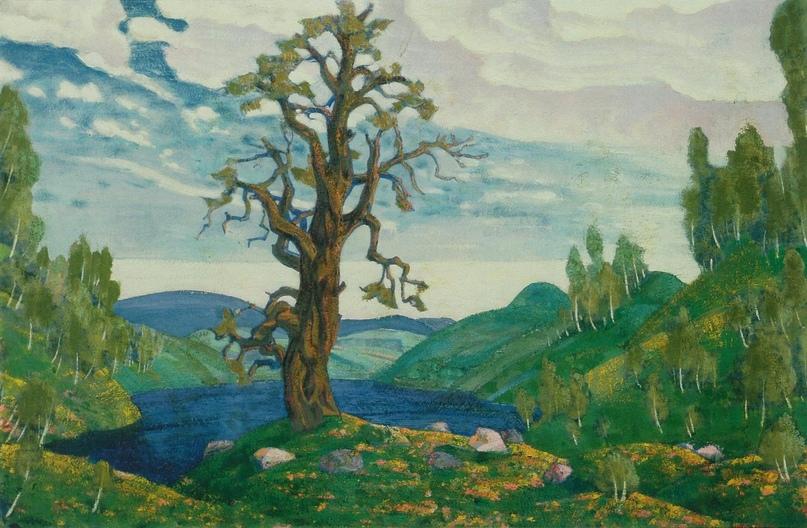 Н.К. Рерих Поцелуй Земле. Действие 1-е. 2-й вариант 1912