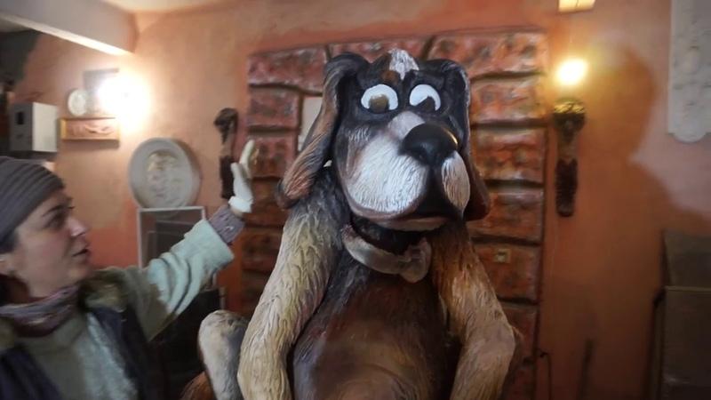 лучшая охрана дома .. скульптура собаки своими руками...