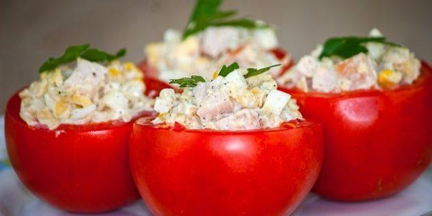 12 простых рецептов фаршированных помидоров, изображение №2