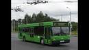 Автобус Минска МАЗ-103, гос.№ АЕ 3827-7, марш.144с (25.03.2019)