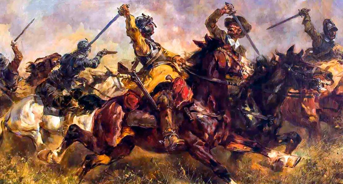 Бой кавалерии