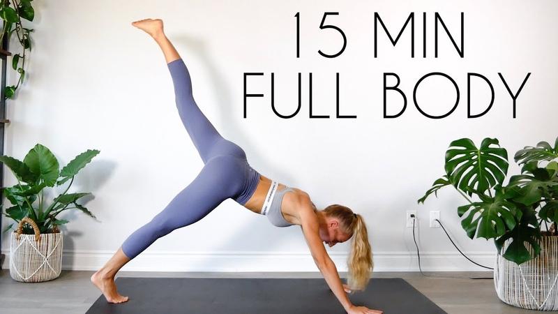 FULL BODY FAT BURN HIIT (NO JUMPINGAPARTMENT FRIENDLY) 15 min Workout