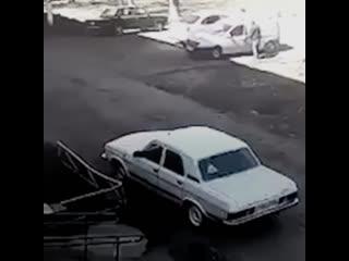 В Нижнекамске взорвалась машина