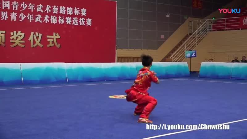 2018.Чемпионат Китая по Ушу среди подростков Гунь шу муж. 2 место.