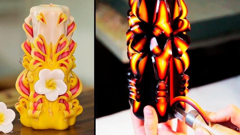 Descubre el Arte de las Velas Talladas a Mano Hand carved candles