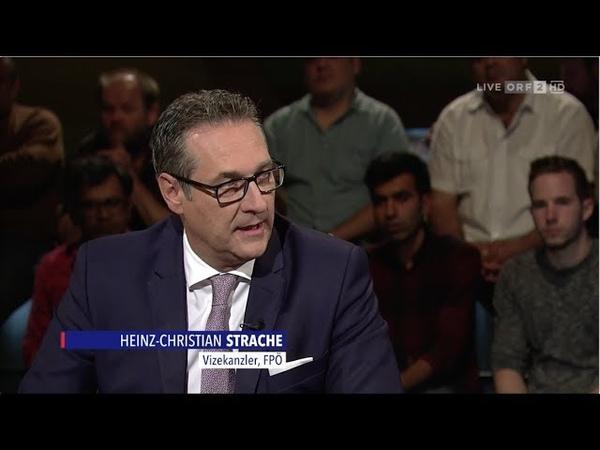 HC Strache IM ZENTRUM Asylpolitik als Zerreißprobe 24 6 2018