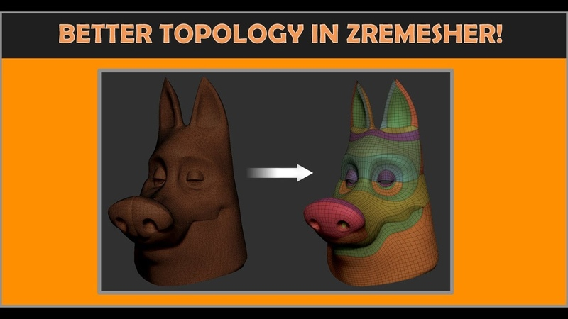 Getting better topology using Zremesher in Zbrush 2019
