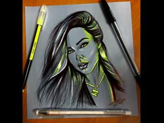 """""""neon color"""" portrait."""