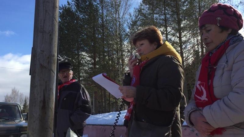 Митинг Кадуй 23.03.2019 Кувшинникова в отставку