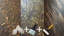 Эффектная ШПАКЛЕВКА 3 ТЕХНИКИ Элементарно Перчатки шпатель валик Spectacular PUTTY 3 TECHNOLOGY
