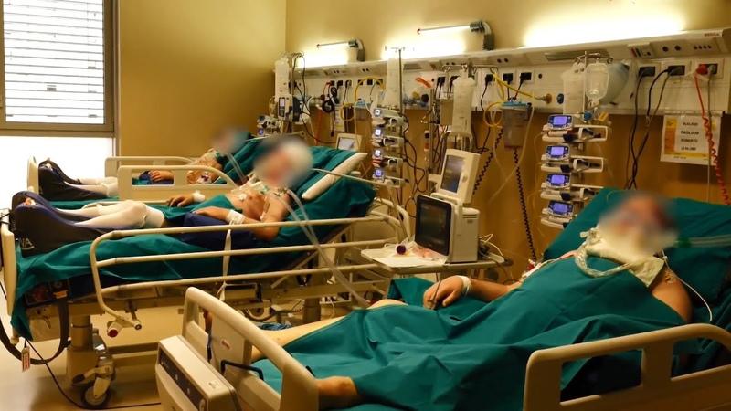 Видео из итальянской клиники переоборудованной для лечения пациентов с коронавирусом