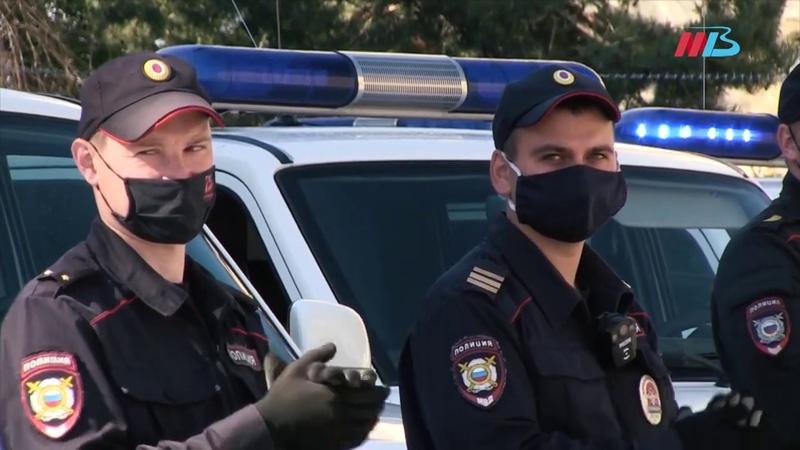 Полицейские Волгоградской области креативно поблагодарили врачей