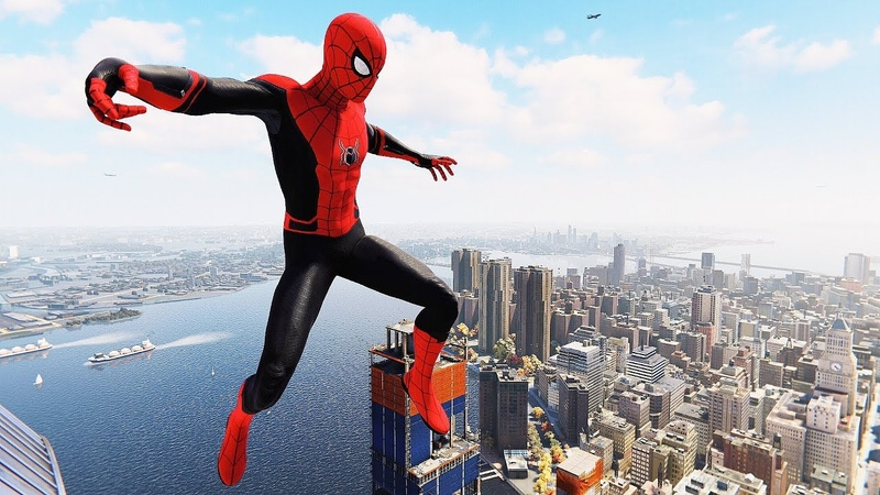 Spider-Man PS4 - Far From Home Suit Flawless Combat, Stealth Free Roam Gameplay