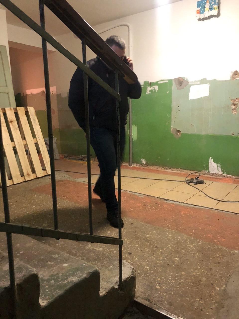 Улица Ердякова дом 18 начало декоративного ремонта