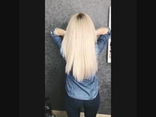 Давно не было видео-блондов Как Вам оттенокДа и владелец этих роскошных локонов просто Ставь , если с нами
