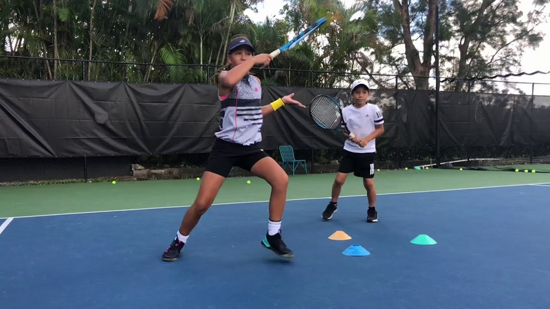 Developing Tennis Champions with Coach Dabul Players on the videos are between 8 and 11 y o