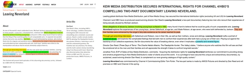 Как связаны Leaving Neverland и Kew Media Distribution (KMD)?, изображение №3
