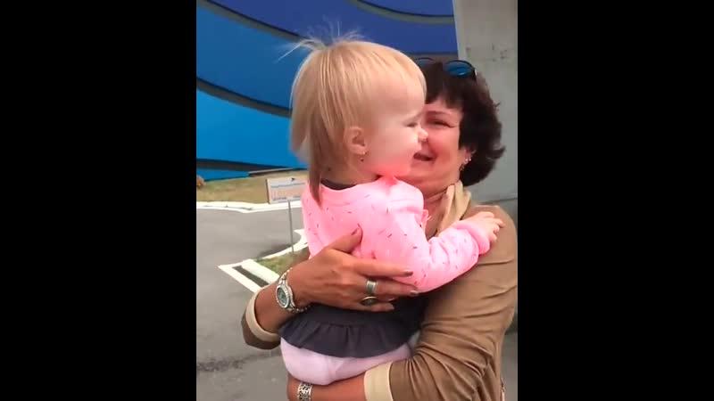 расплакалась когда обняла свою внучку первый раз)😥 дом2 dom2 Безус