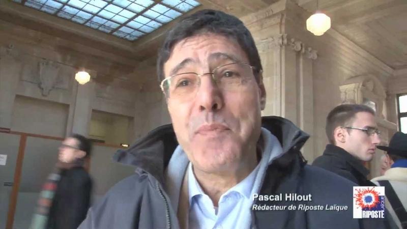 Interview de Pascal Hilout avant d'entrer au tribunal