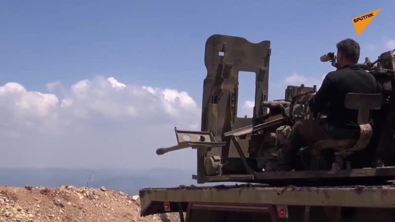 Syrian Army in action against jihadists in northeast Latakia