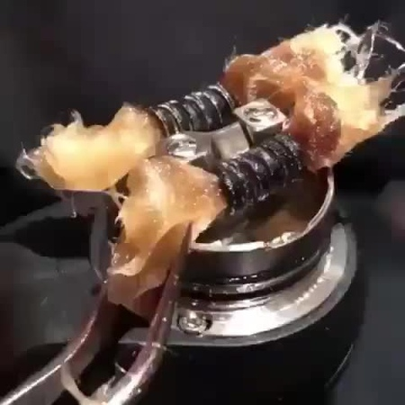 "THE ORIGINAL IG FOR VAPE on Instagram: ""Rewicking Process Tag a vaper who needs this!  Video by @coilus_wraps  rebuild rda dripper cotton"""