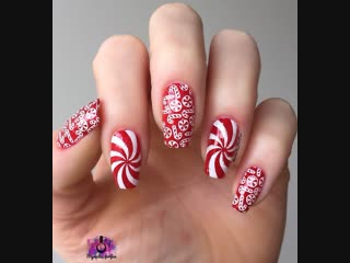 Candy cane nails.