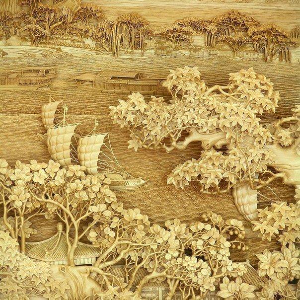 Китайская школа резьбы по дереву, изображение №8