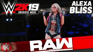 WWE 2K19 Universe Mode - RAW. Alexa Bliss (Русская озвучка) #16