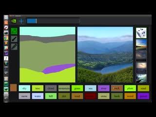 Nvidia показала нейросеть для создания реалистичных изображений по наброскам