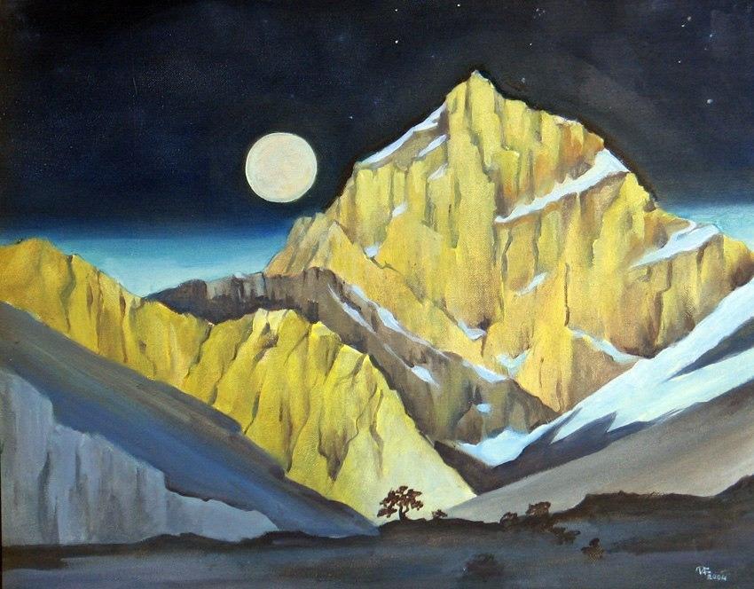 Самое значительное в наследии Николая Рериха — это цикл горных пейзажей, которые он создал в Индии, Китае, Монголии, Центральной Азии.