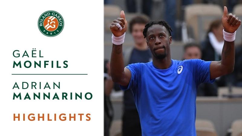 Gaël Monfils vs Adrian Mannarino - Round 2 Highlights | Roland-Garros 2019