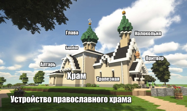 майнкрафт как строить церковь описание