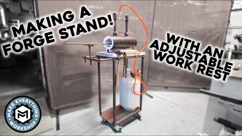 Building A Stand For My New Forge (W/ Adjustable Work Rest)