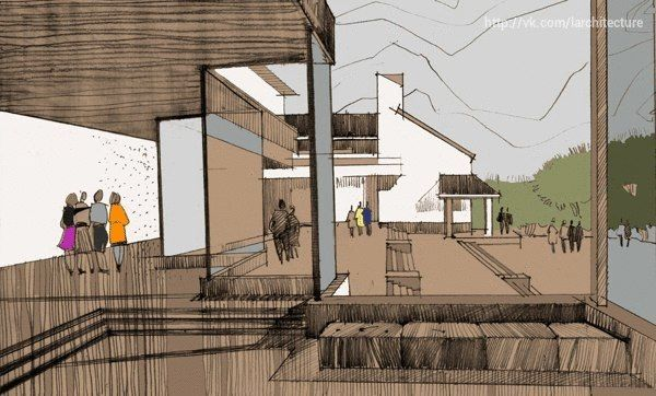 Illustrations of housing development/Natalia Len