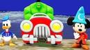 Мультики про Машинки Гонки Супергерой Халк Микки Маус Дональд Дак Цветные Машинки Мультики для Детей