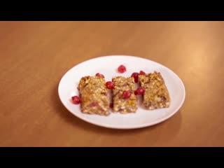 "Энергетические батончики. Видео от канала ""Шедевры кулинарии""."
