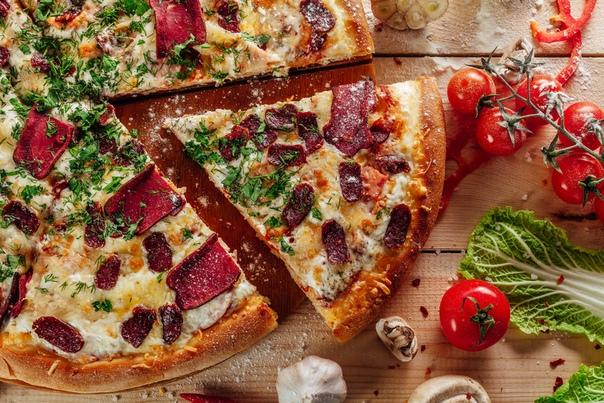 острая пицца ( бастурма )