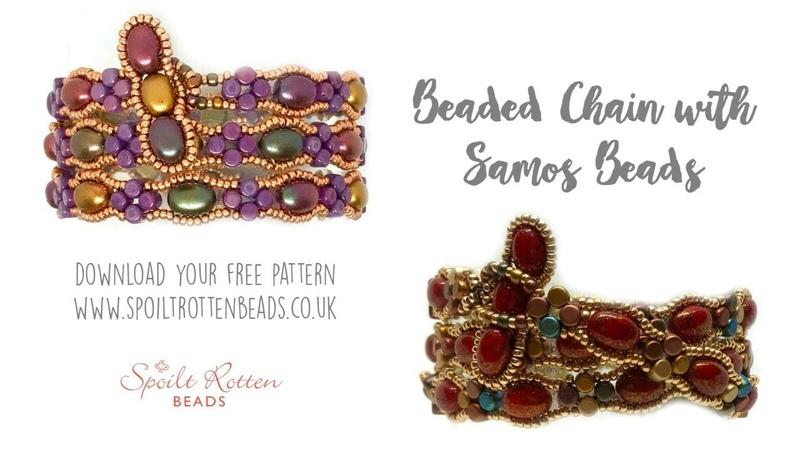 Beaded Chain with Samos Par Puca Wrap Bracelet