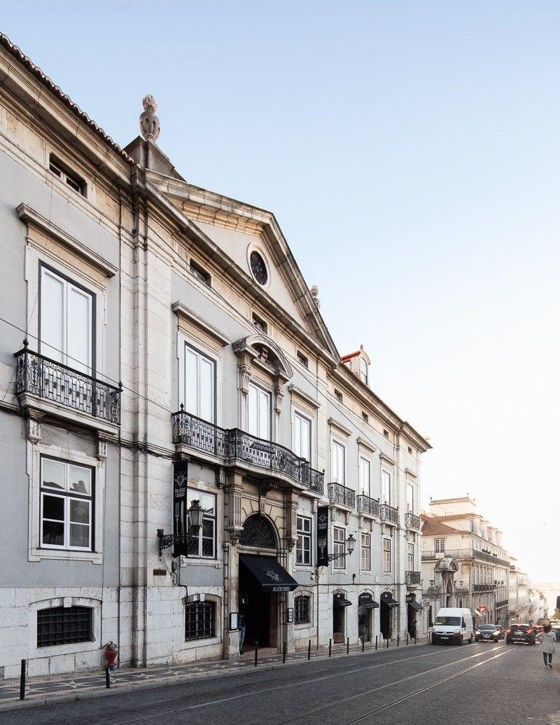 Реконструкция Palácio Chiado 'Chiado Palace ' в Лиссабоне, Португалия, построенный в 1781 году