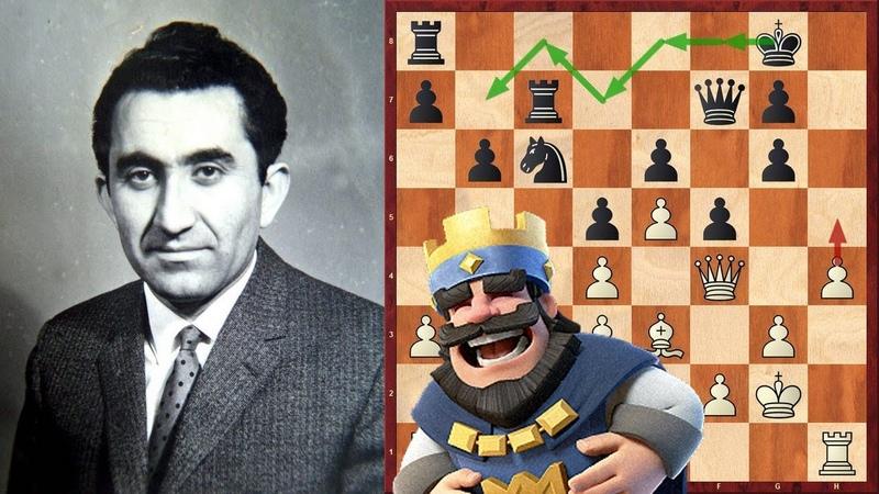 Шахматы Тигран Петросян Стратегический МАРШ КОРОЛЯ с фланга на фланг