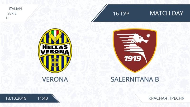 AFL19. Italy. Serie D. Day 16. Verona - Salernitana B