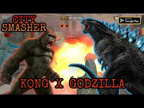 Godzilla X Kong - City Smasher | offline android games