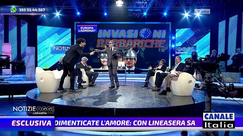 Gustinicchi perde la pazienza IN DIRETTA TV Notizie Oggi Lineasera